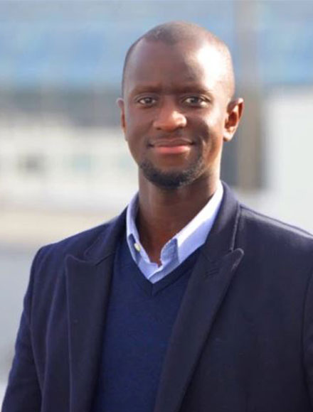 Portrait de Bamba Lo, fondateur et CEO de la startup Paps