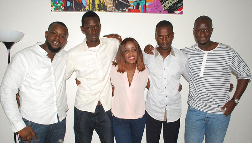 Photo de l'équipe de Paps, la startup qui réinvente la livraison au Sénégal