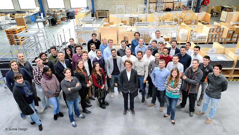 L'équipe de la startup Sunna Design
