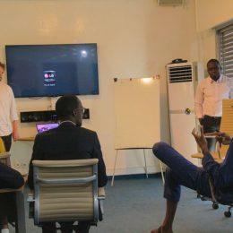 Axel Boeykens (SÉKOU), Pape Ba Gahn (Synapse Center), Abdoul Diallo Khadre (Volkeno),