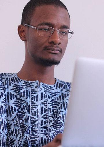 Photo d'Abdoul Khadre Diallo, fondateur de Volkeno et Bakeli