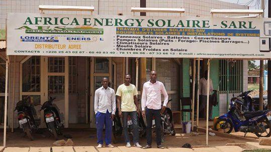 Les fondateurs d'Africa Energy Solaire