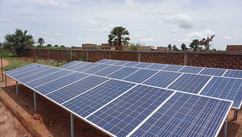 Panneaux solaires de la société Africa Energy Solaire