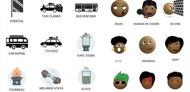 Graphistes et designers se sont réunis pour créer une base d'icônes et d'émoticônes africaines !